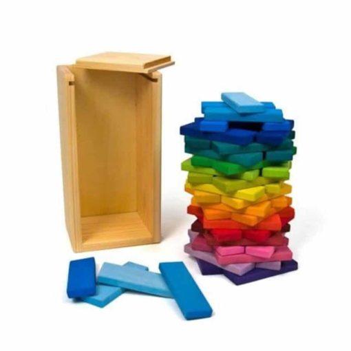 Rainbow building slats tower - Glückskäfer