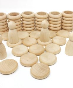 Nins®, rings and coins: natural wood – Grapat