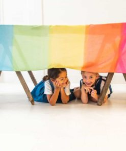 Rainbow cotton blossom cloth - Sarah's Silks