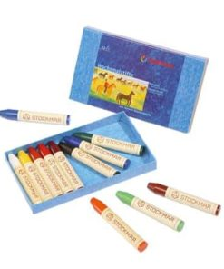 Waldorf art supplies wax stick crayons (12) - Stockmar