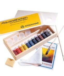 Waldorf art supplies Watercolour set in wooden box - Stockmar