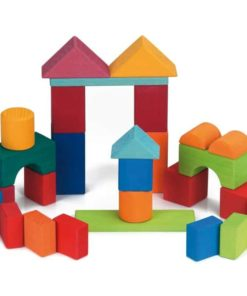 Handmade wooden blocks 27 wooden coloured building blocks - Glückskäfer