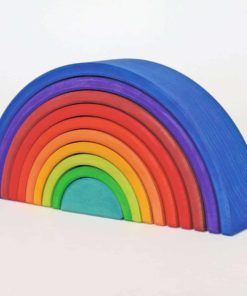 Counting rainbow (10 Pieces) - Grimm's Handmade sustainable wooden toy