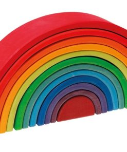 Handmade sustainable wooden toy Large rainbow (12 Pieces) - Grimm's