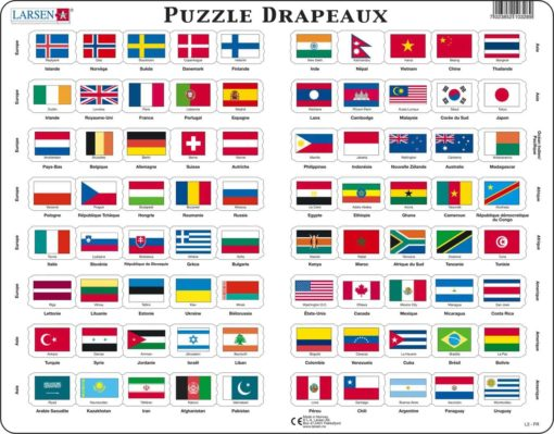 Maxi flag puzzle: French - Larsen