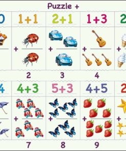 Maxi math puzzle: addition from 1 to 10 - Larsen