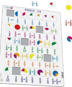 Maxi math puzzle: fractions - Larsen