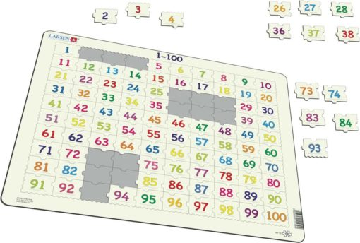 Maxi math puzzle: learn to count 1-100 - Larsen