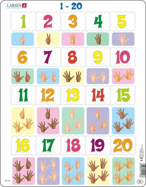 Maxi math puzzle: learn to count 1-20 - Larsen