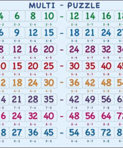 Maxi math puzzle: multiplication 2 to 9 - Larsen