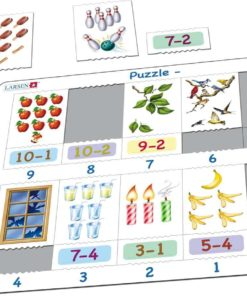 Maxi math puzzle: subtraction from 10-1 - Larsen