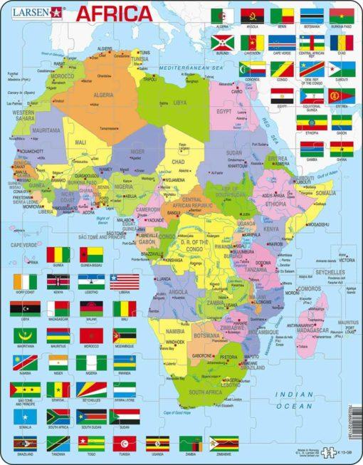 Maxi puzzle Africa political map: English - Larsen