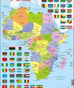 Maxi puzzle Africa political map: German - Larsen