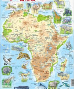 Maxi puzzle Africa with animals A22 - French - Larsen