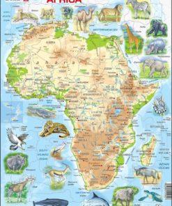 Maxi puzzle Africa with animals- English - Larsen