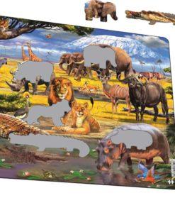 Maxi puzzle African savannah with Mount Kilimanjaro - Larsen
