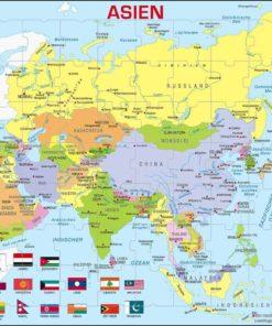 Maxi puzzle Asia Political Map: German - Larsen