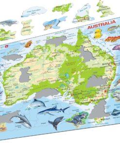 Maxi puzzle Australia with animals A31 - English - Larsen