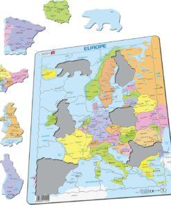 Maxi puzzle Europe Political Map A8 - English - Larsen