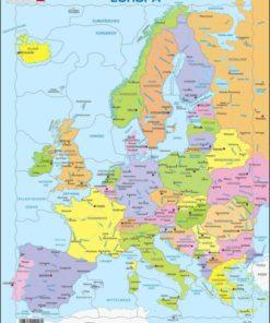 Maxi puzzle Europe Political Map A8 - German - Larsen