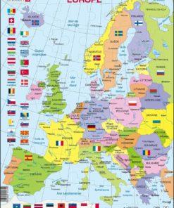 Maxi puzzle Europe Political Map K2: French - Larsen