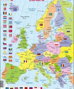Maxi puzzle Europe Political Map K2- German - Larsen