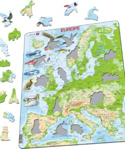Maxi puzzle Europe physical map: English - Larsen