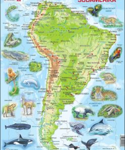 Maxi puzzle South America with animals A25 - German - Larsen