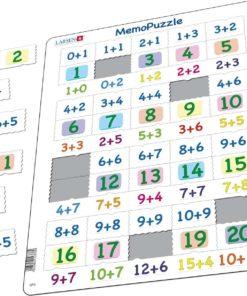 Maxi puzzle addition numbers 0-20 - Larsen