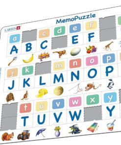 Maxi puzzle alphabet, 26 upper and lower case letters: English - Larsen