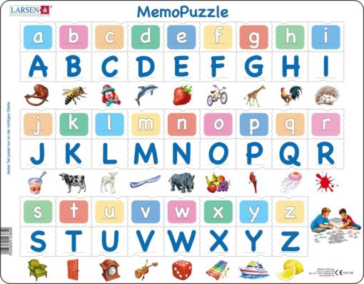 Maxi puzzle alphabet, 26 upper and lower case letters: German - Larsen