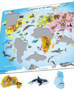 Maxi puzzle animals of the world A34 - English - Larsen
