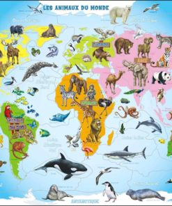 Maxi puzzle animals of the world A34 - French - Larsen