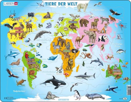 Maxi puzzle animals of the world A34 - German - Larsen