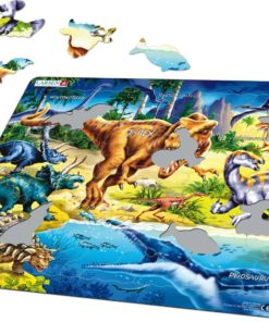 Maxi puzzle dinosaurs from the Cretaceous period - Larsen