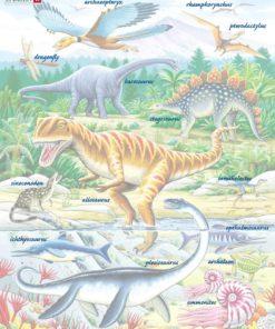 Maxi puzzle dinosaurs of the Jurassic period - Larsen