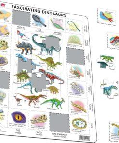 Maxi puzzle fascinating dinosaurs: English - Larsen