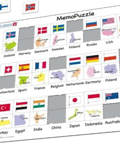 Maxi puzzle flags and capitals of 27 countries - Larsen