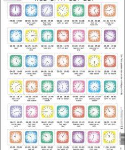 Maxi puzzle learn the clock: German - Larsen