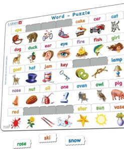 Maxi puzzle learn to read simple words: English - Larsen