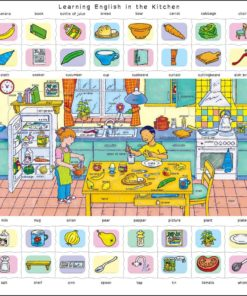 Maxi puzzle learning English in the kitchen - Larsen