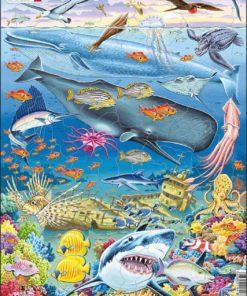 Maxi puzzle marine life in the Pacific ocean - Larsen