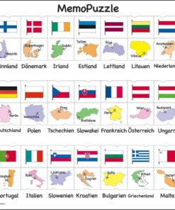 Maxi puzzle names, flags and capitals of 27 EU member states: German - Larsen