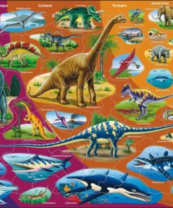 Maxi puzzle natural history triassic period to today: French - Larsen