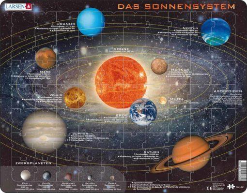 Maxi puzzle solar system: German - Larsen