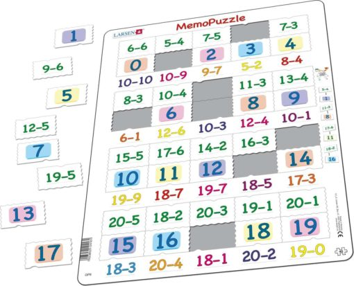 Maxi puzzle subtraction numbers 0-20 - Larsen
