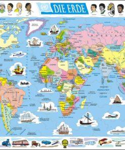 Maxi puzzle the world political map: German - Larsen
