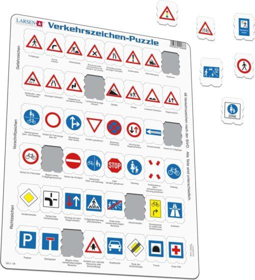 Maxi puzzle traffic sign: German - Larsen