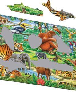 Maxi puzzle vibrant Asian jungle - Larsen