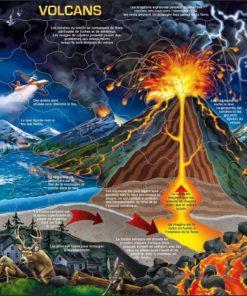 Maxi puzzle volcanoes: French - Larsen